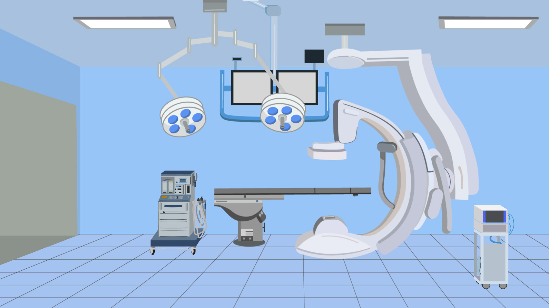 Angiographic surgery room